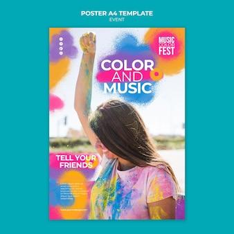 Szablon plakatu festiwalu muzycznego