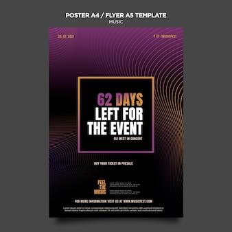 Szablon plakatu festiwalu muzyki