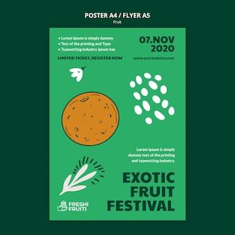 Szablon plakatu festiwalu owoców