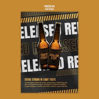 Szablon plakatu festiwalu piwa