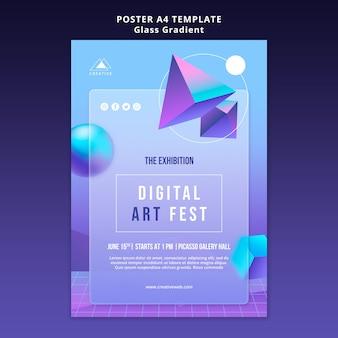 Szablon plakatu festiwalu sztuki cyfrowej