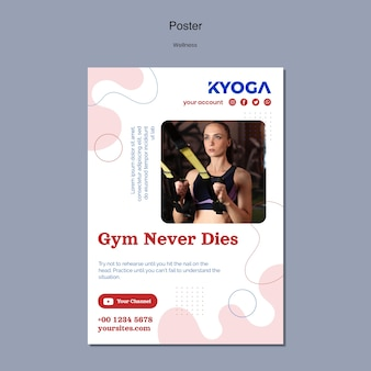 Szablon plakatu fitness fitness