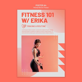 Szablon plakatu fitness