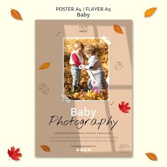 Szablon plakatu fotografii dziecka