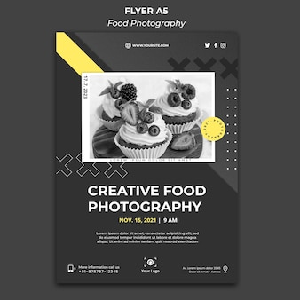Szablon plakatu fotografii żywności
