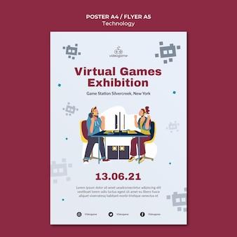 Szablon plakatu gier wirtualnych