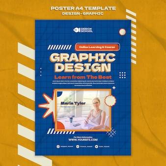 Szablon plakatu graficznego