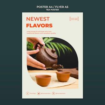 Szablon plakatu herbaciarni