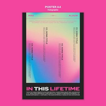 Szablon plakatu holograficznego projektu