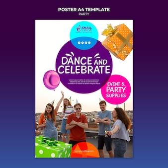 Szablon plakatu imprezy imprezowej