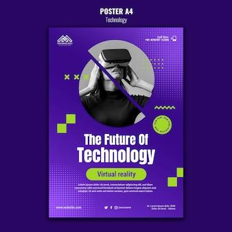 Szablon plakatu innowacji technologicznej