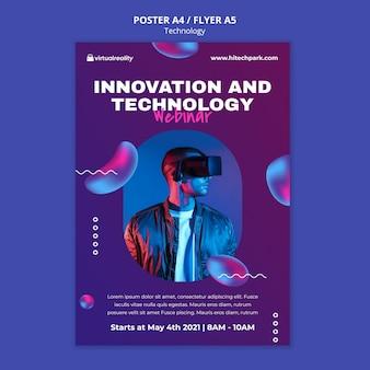 Szablon plakatu innowacji technologicznych
