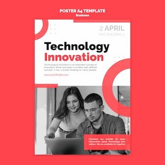 Szablon plakatu innowacji technologii