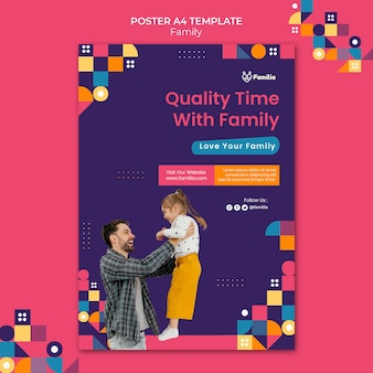 Szablon plakatu inspirowanego rodziną