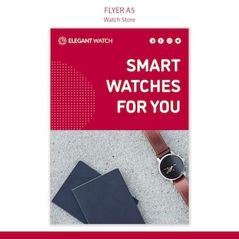 Szablon plakatu inteligentne zegarki dla ciebie