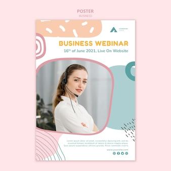 Szablon plakatu internetowego seminarium biznesowego