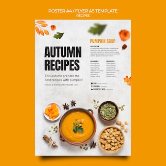 Szablon Plakatu Jesiennego Jedzenia Premium Psd