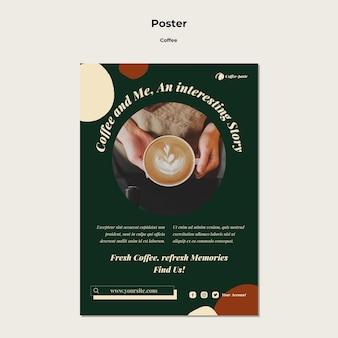 Szablon plakatu kawiarni