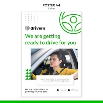 Szablon plakatu kierowcy
