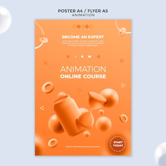 Szablon plakatu klasy animacji