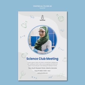 Szablon plakatu klubu naukowego