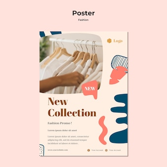 Szablon plakatu kolekcji mody