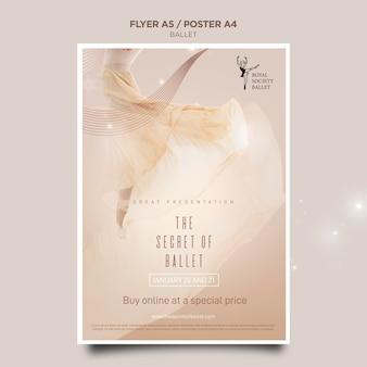 Szablon plakatu koncepcja baleriny
