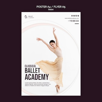 Szablon plakatu koncepcja baletu