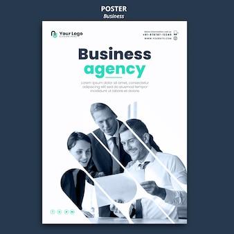 Szablon plakatu koncepcja biznesowa