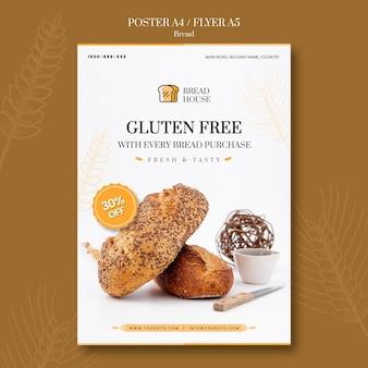 Szablon plakatu koncepcja chleba
