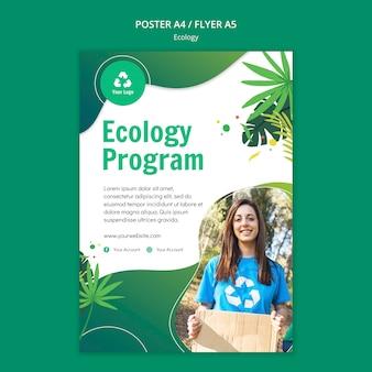 Szablon plakatu koncepcja ekologii