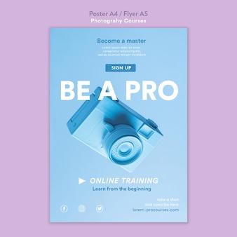 Szablon plakatu koncepcja fotografii