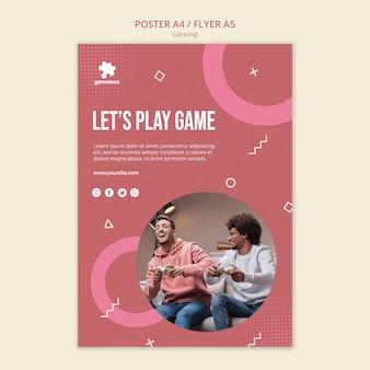Szablon plakatu koncepcja gier