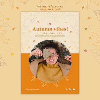 Szablon plakatu koncepcja jesień