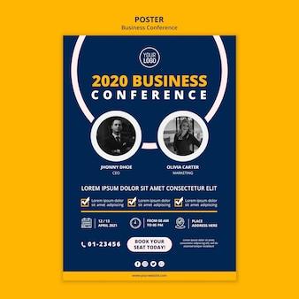 Szablon plakatu koncepcja konferencji biznesowej