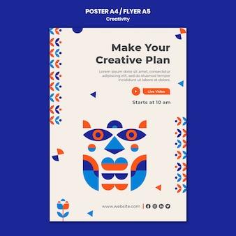 Szablon plakatu koncepcja kreatywności