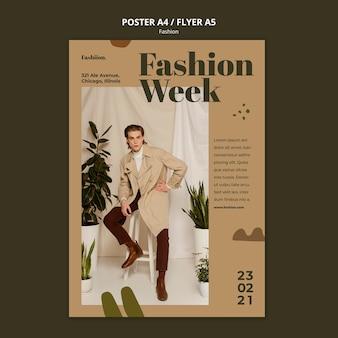Szablon plakatu koncepcja mody