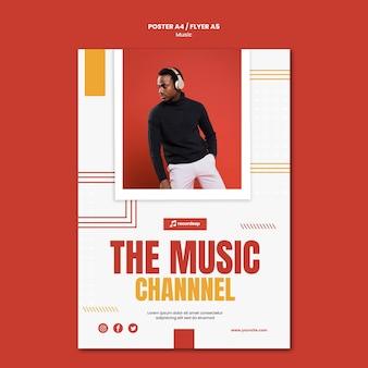 Szablon plakatu koncepcja muzyki