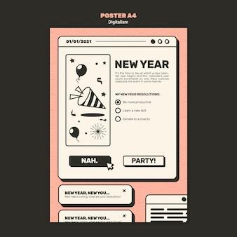 Szablon plakatu koncepcja nowego roku