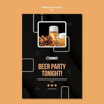 Szablon plakatu koncepcja piwa