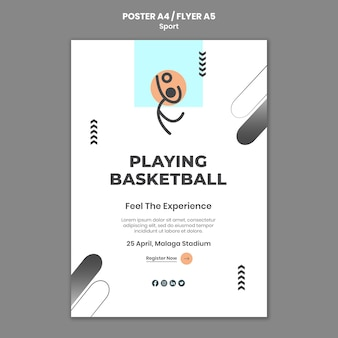 Szablon plakatu koncepcja sportu