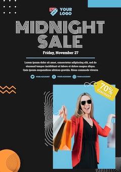 Szablon plakatu koncepcja sprzedaży mody