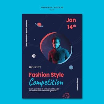 Szablon plakatu koncepcja strój