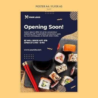 Szablon plakatu koncepcja sushi