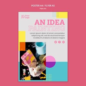 Szablon plakatu koncepcja sztuki malowania