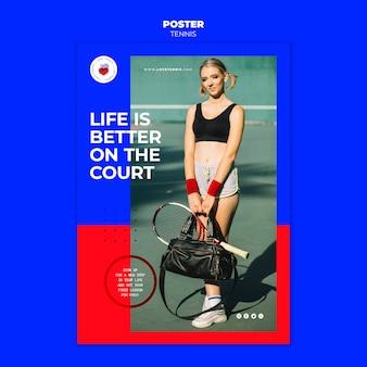 Szablon plakatu koncepcja tenisa