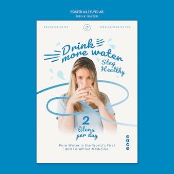 Szablon plakatu koncepcja wody pitnej