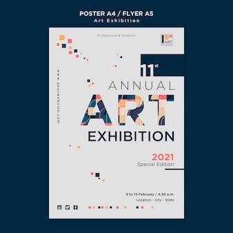 Szablon plakatu koncepcja wystawy sztuki