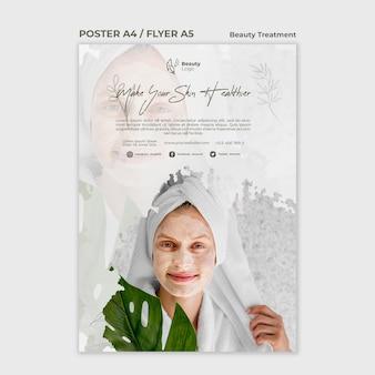 Szablon plakatu koncepcja zabiegu kosmetycznego