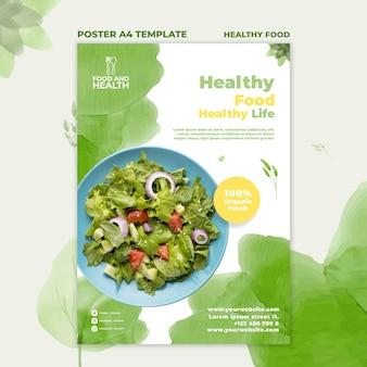 Szablon plakatu koncepcja zdrowej żywności